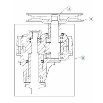 glavčina noža bez remenice, MTD traktorske kosilice, serije kosišta B/R od 2018 (618-07257AET)